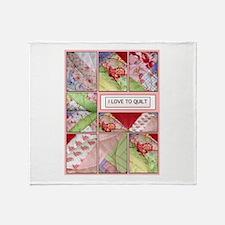 Shana's Quilt Throw Blanket