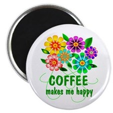 """Coffee Happiness 2.25"""" Magnet (100 pack)"""
