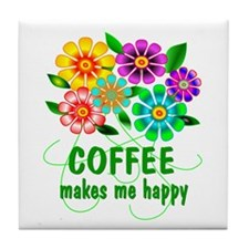 Coffee Happiness Tile Coaster