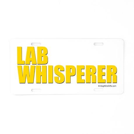 Lab Whisperer Aluminum License Plate