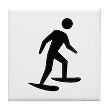 Snow Shoeing Image Tile Coaster