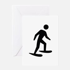 Snow Shoeing Image Greeting Card
