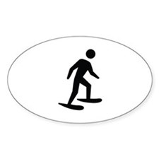 Snow Shoeing Image Decal