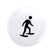 """Snow Shoeing Image 3.5"""" Button"""