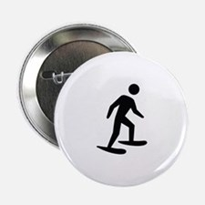 "Snow Shoeing Image 2.25"" Button"