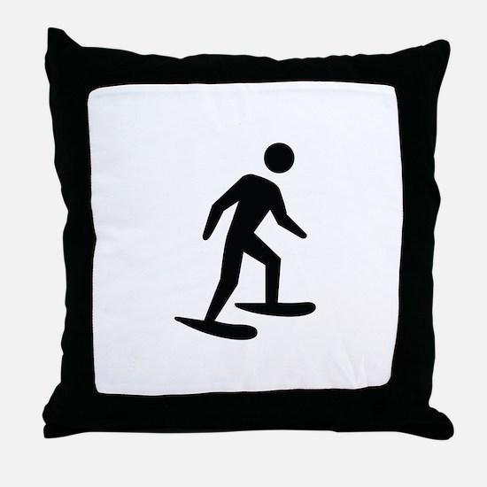 Snow Shoeing Image Throw Pillow