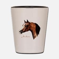 Bay Arabian Horse Shot Glass