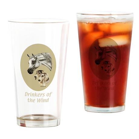 Arabian and Saluki Pint Glass