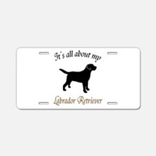 All About Lab Aluminum License Plate