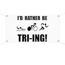 Cute Triathlon Banner
