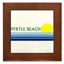 Cool South beach Framed Tile