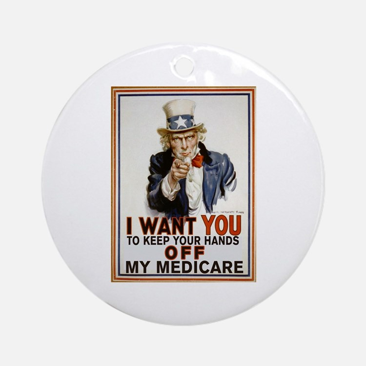 Congress, Don't Touch Medicare Ornament (Round)