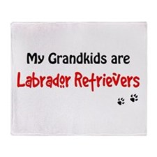 Grandkid Labs Throw Blanket