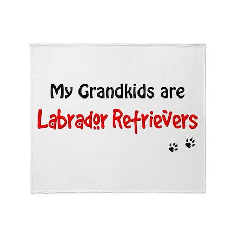 Grandkid Labs Throw Blanket