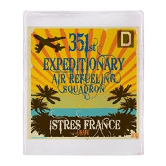351st EARS Throw Blanket