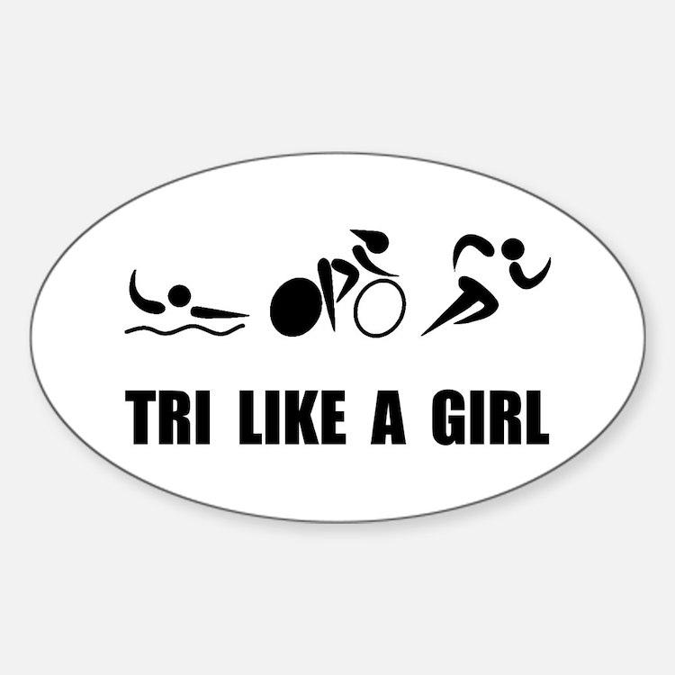 Tri like A Girl Black Decal