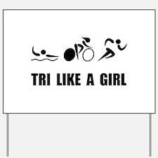Unique Ironman triathlon Yard Sign