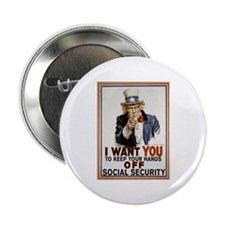 "Don't Touch Social Security 2.25"" Button"