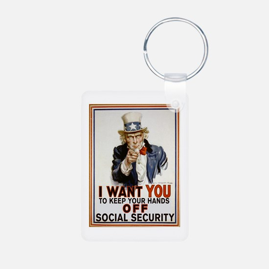 Don't Touch Social Security Keychains