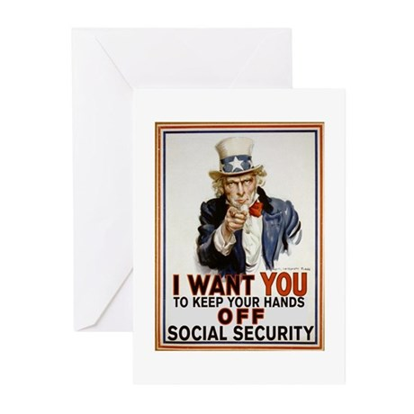 Don't Touch Social Security Greeting Cards (Pk of