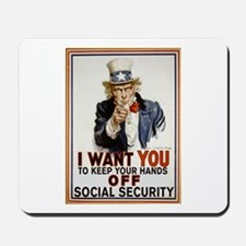 Don't Touch Social Security Mousepad