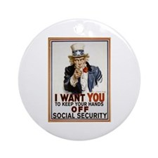 Don't Touch Social Security Ornament (Round)