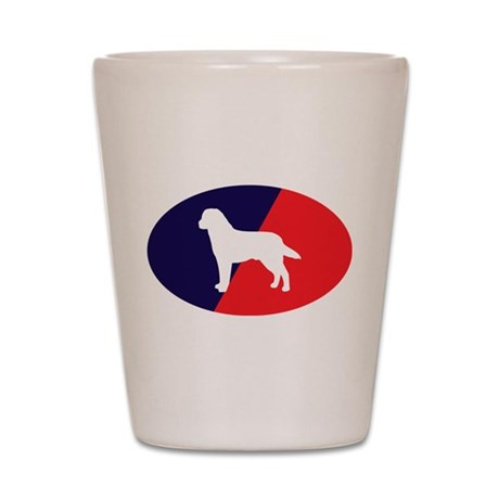 Red White Blue Lab Shot Glass