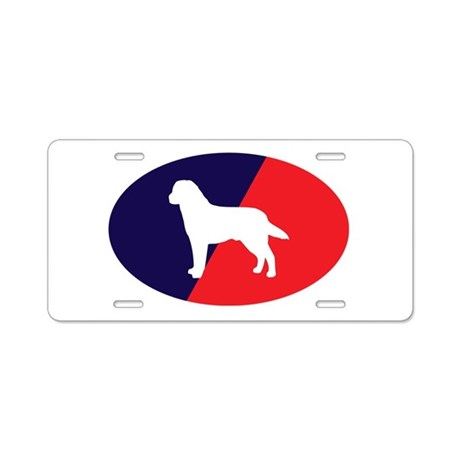 Red White Blue Lab Aluminum License Plate
