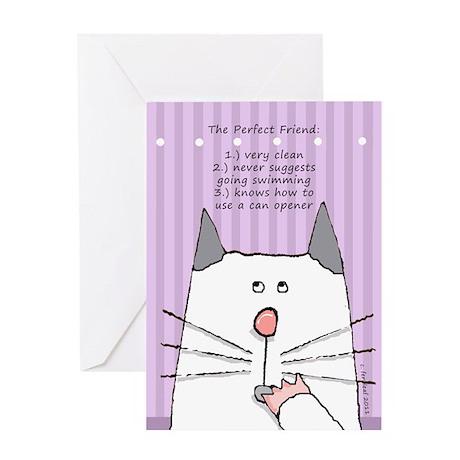Friendship Cat Greeting Card