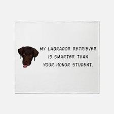 Smart Labrador Retriever Throw Blanket