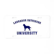 Lab University Aluminum License Plate