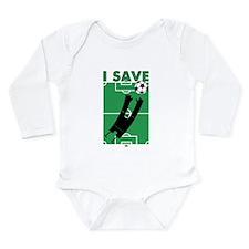 Soccer I Save Long Sleeve Infant Bodysuit