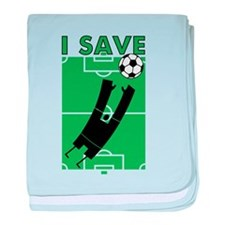 Soccer I Save baby blanket