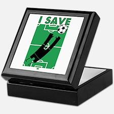Soccer I Save Keepsake Box