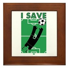 Soccer I Save Framed Tile