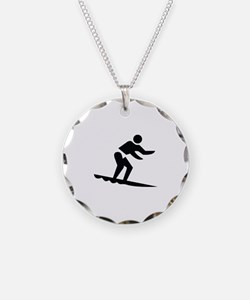 Surfing Image Necklace
