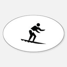 Surfing Image Sticker (Oval)