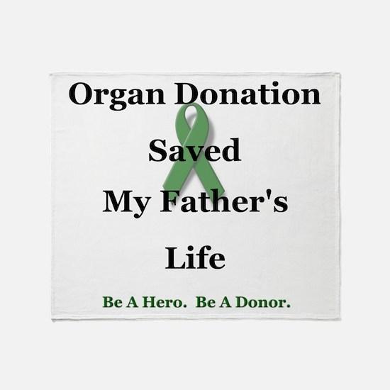 Father Transplant Throw Blanket