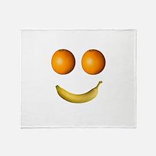Fruity Smiley Face Throw Blanket