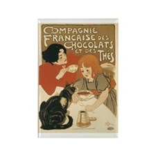 French Chocolate and Tea 1896 Rectangle Magnet