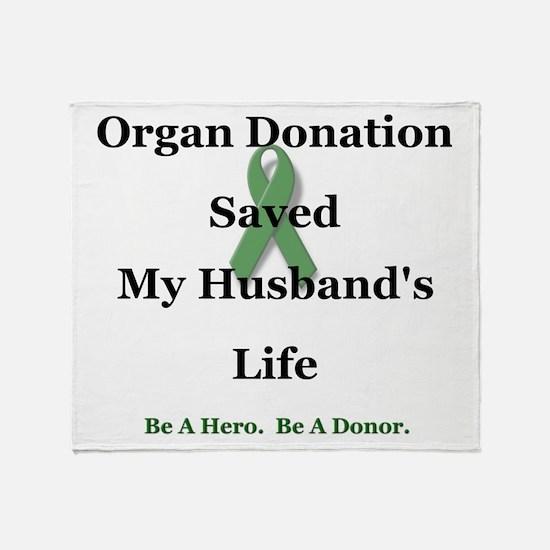 Husband Transplant Throw Blanket