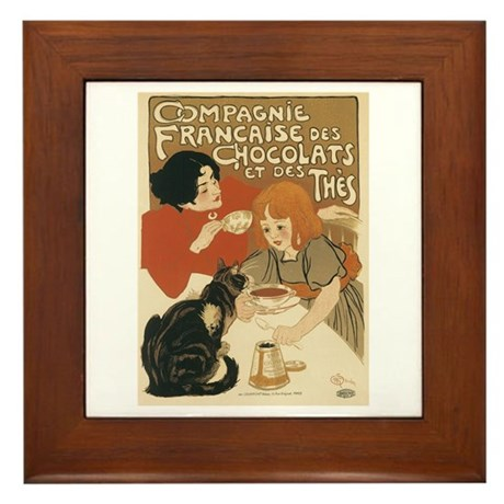 French Chocolate and Tea 1896 Framed Tile