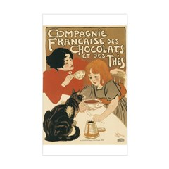 French Chocolate and Tea 1896 Decal