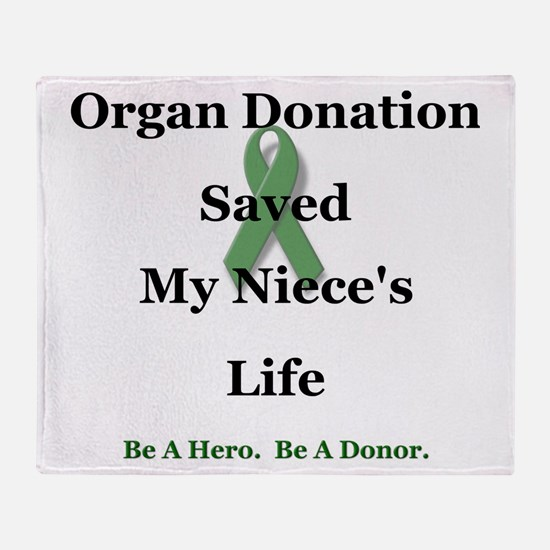 Niece Transplant Throw Blanket