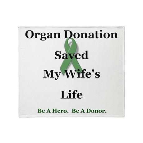 Wife Transplant Throw Blanket