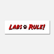 Labs Rule Car Magnet 10 x 3