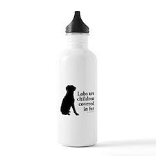 Lab are Fur Children Water Bottle