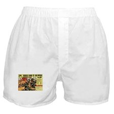 Comic Book Soldiers Boxer Shorts