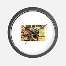 Comic Book Soldiers Wall Clock