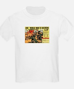 Comic Book Soldiers Kids T-Shirt